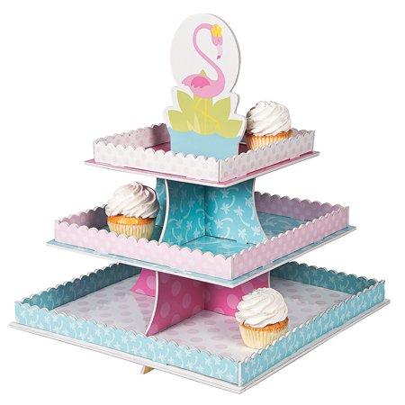 Fun Express - 1st Flamingo Treat Stand for Birthday - Party Supplies - Serveware & Barware - Misc Serveware & Barware - Birthday - 1 Piece - Party Serveware Supplies