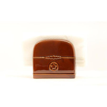 Western Moments 6105014 Silverado Napkin Caddy, Dark Brown