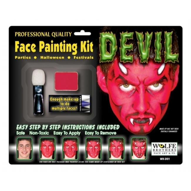 Costumes For All Occasions Wfd01 Devil Makeup Kit Wolfe Bros