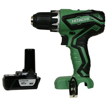"Hitachi Drill Driver (Hitachi Power Tools DS10DFL2 12V Lithium-Ion 3/8"" Drill Driver & One BCL1015S 12V Lithium-Ion Battery )"