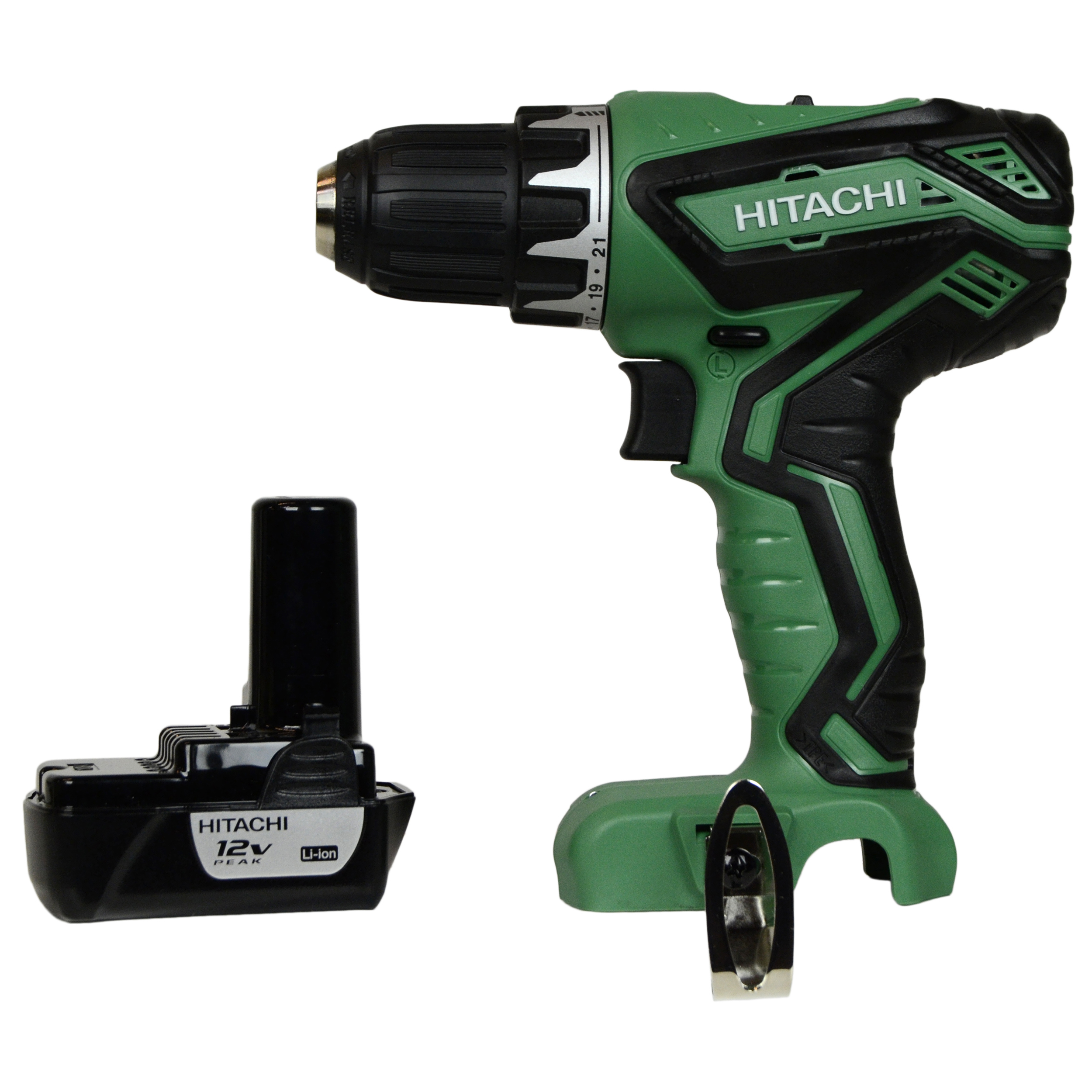 """Hitachi Power Tools DS10DFL2 12V Lithium-Ion 3/8"""" Drill Driver & One BCL1015S 12V Lithium-Ion Battery"""