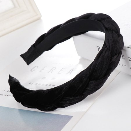 Fancyleo Women Tie Velvet Headband Twist Hairband Braid Knot Cross Hair Hoop