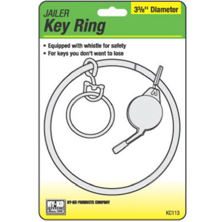 HY-KO PROD CO Jailor Key Ring With Whistle, 3-3/8-In. KC113 ()