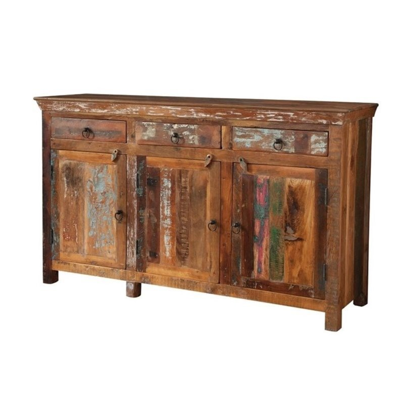 Bowery Hill 3 Drawer 3 Door Sideboard in Reclaimed Wood