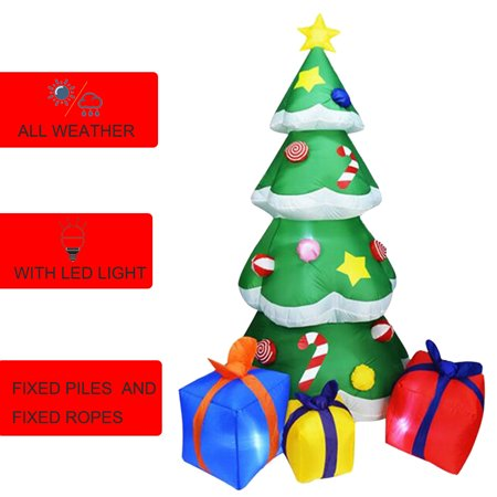 7ft Inflatable Christmas Tree With Gift