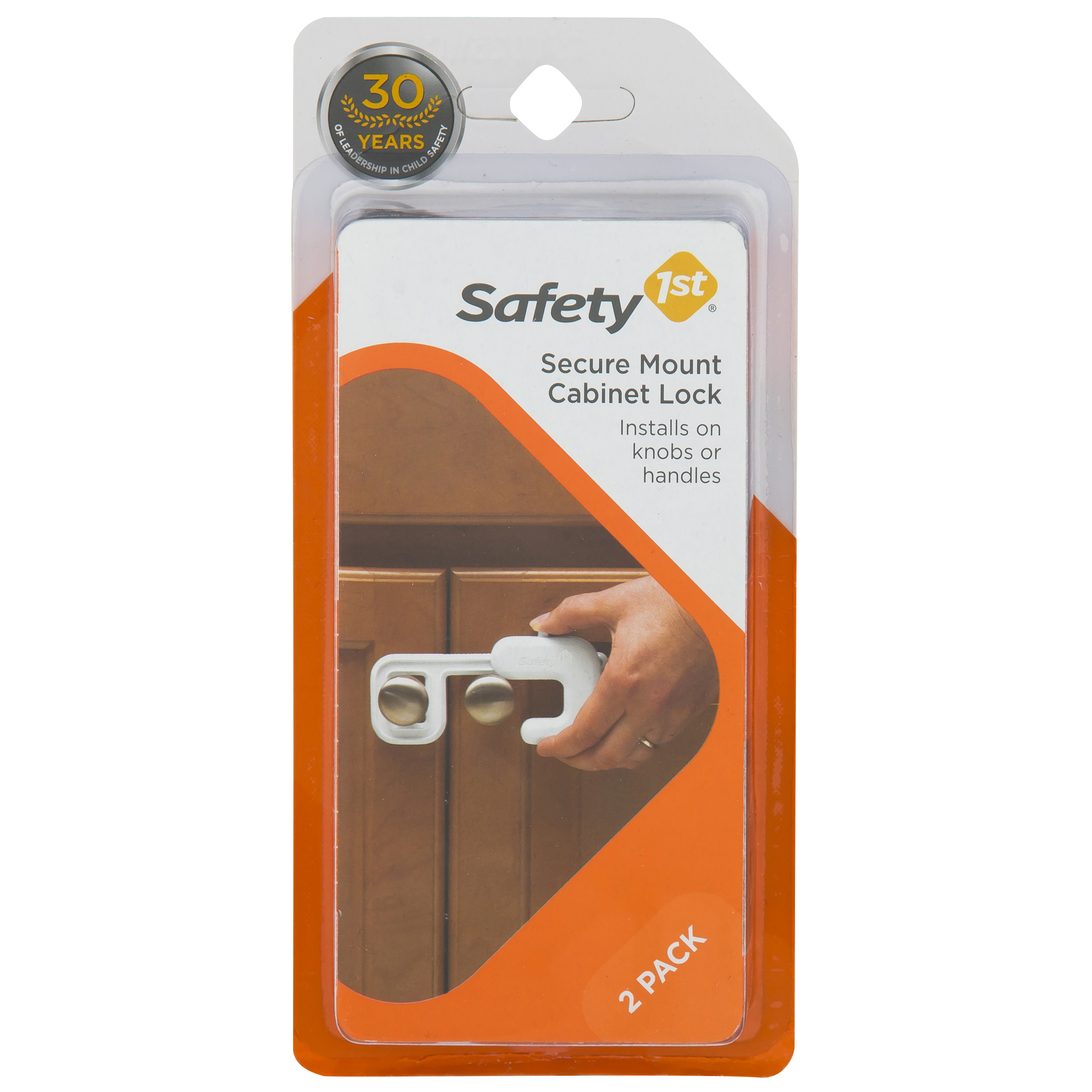 Safety 1ˢᵗ Secure Mount Home Safety Cabinet Lock, White