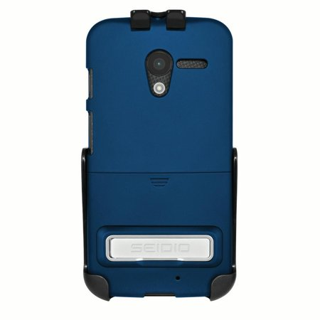Seidio Motorola Moto X SURFACE Combo (w/ Kickstand) - Royal - Seidio Innocase Surface Holster