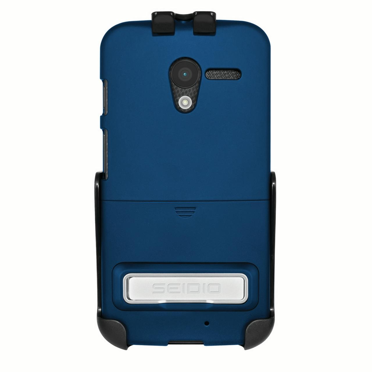 Seidio Motorola Moto X SURFACE Combo (w/ Kickstand) - Royal Blue