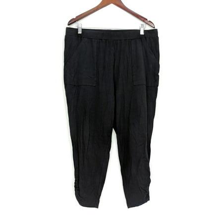 Anybody Women's Pants Sz L Loungewear Cozy Knit Slim Leg Black A307835