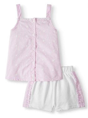 8a0256e17 Product Image Forever Me Striped Tank Top & Shorts, 2pc Outfit Set (Toddler  Girls)