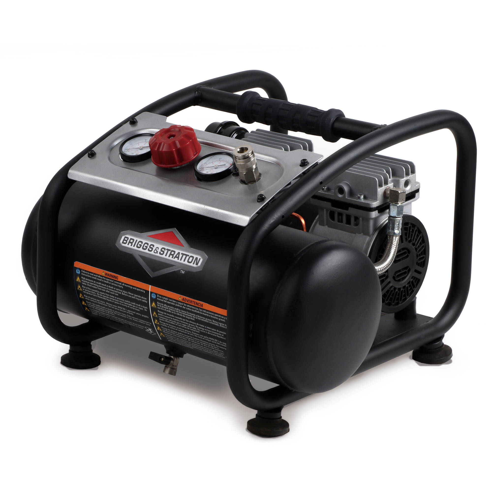 Briggs and Stratton 3-Gallon Air Compressor with Quiet Technology, 074027-00