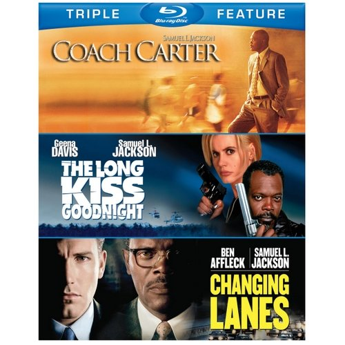 Samuel L. Jackson Triple Feature: Coach Carter / The Long Kiss Goodnight / Changing Lanes (Blu-ray) (Widescreen)