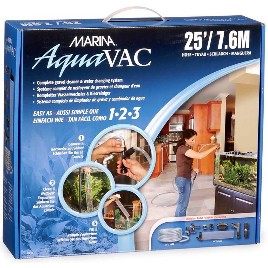 Marina AquaVac Easy Clean Water Changer, 25' Hose