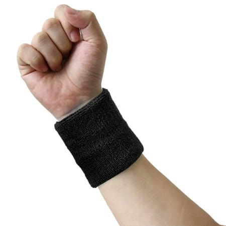 Orange Cotton Towel Sport Wrist Protector Sweat Absorbent Elastic Comfort