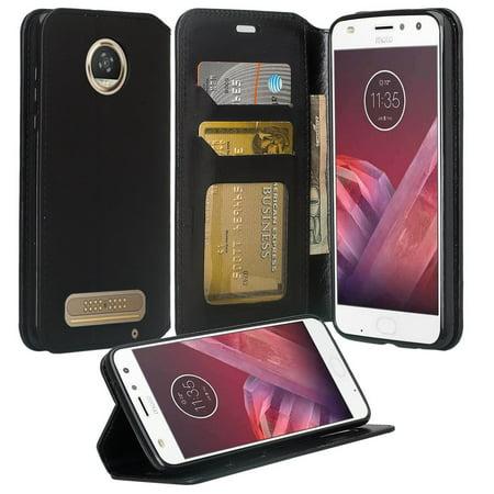 hot sale online 599ba 70b43 Motorola Moto Z2 Force Case, Moto Z2 Force Wallet Case, Slim Flip ...
