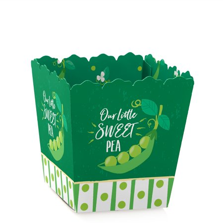 Sweet Pea in a Pod - Party Mini Favor Boxes - Baby Shower or 1st Birthday Party Treat Candy Boxes - Set of 12