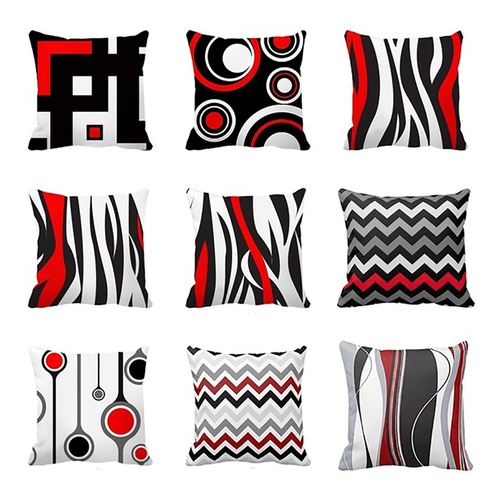 Girl12Queen Creative Geometric Pattern Pillow Case Decorative Cushion Cover for Sofa Couch