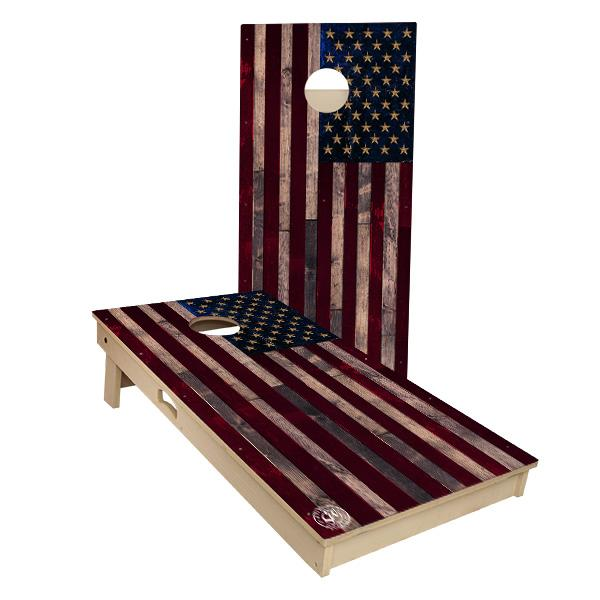 American Flag All Weather Tournament Size Cornhole Boards by