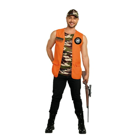 Dreamgirl Men's On the Hunt Camouflage Hunter Costume