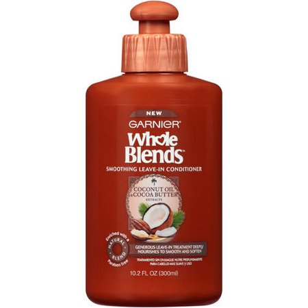 Garnier Whole Blends Leave-In Conditioner with Coconut Oil & Cocoa Butter Extracts, 10.2 fl.