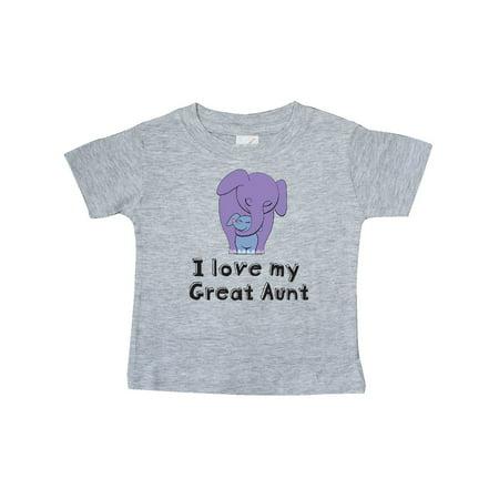 I Love my Great Aunt Elephant Purple Blue Baby T-Shirt