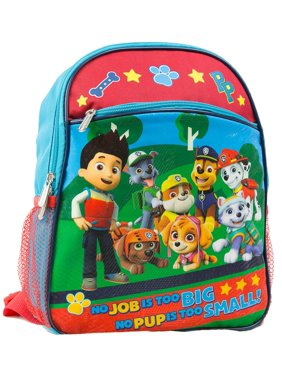 "Nickelodeon Paw Patrol 12"" Toddler Backpack With 8 Paw Patrol Characters"