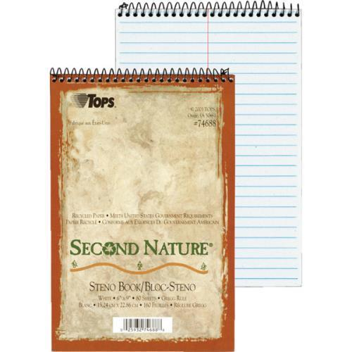 "Recycld 2nd Nature Steno Bks""Pkg of 12"""