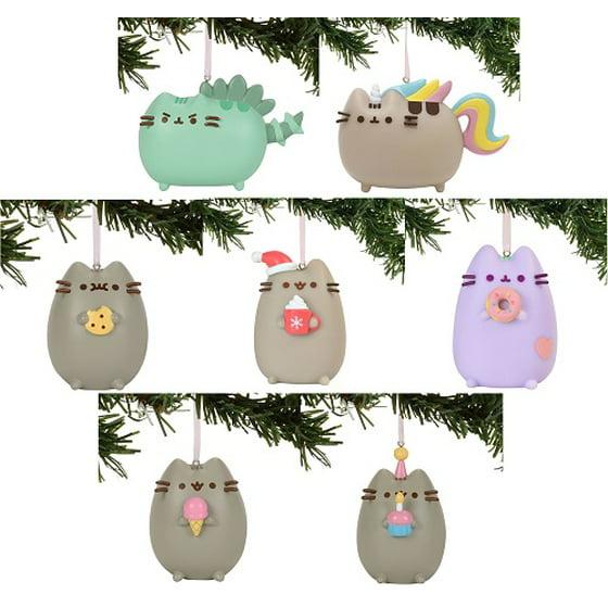 Pusheen Christmas.Gund Pusheen Christmas Ornament Assortment 7 Different Ornaments Pvc Polyresin Stone Powder