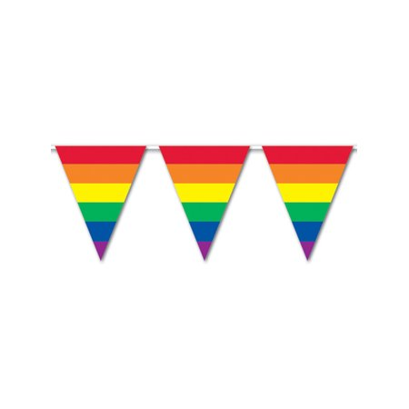 All Weather Rainbow Pride Pennant Banner Flags With String Decoration - Flag Decorations