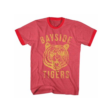 Saved By The Bell 80s Comedy Sitcom Bayside Tigers Adult Ringer T-Shirt Tee