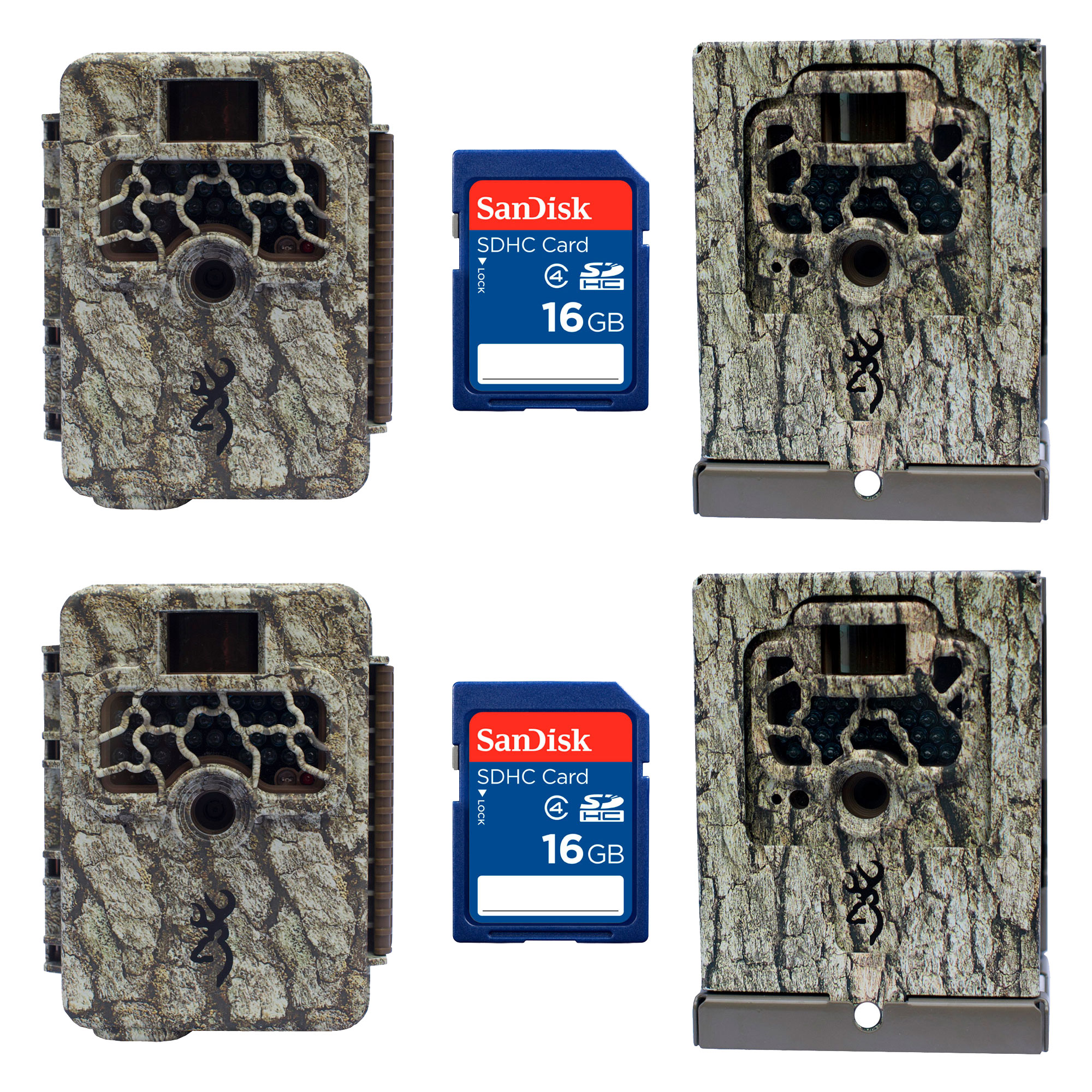 Browning Trail Cameras Command Ops Game Camera, Pair + Security Boxes, SD Cards by Browning Trail Cameras