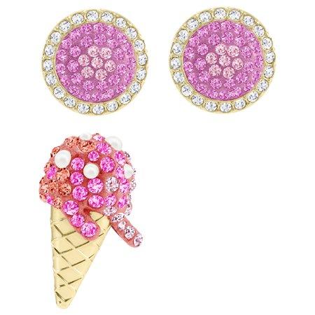 Swarovski No Regrets Ice Cream Pierced Earrings - Multi-coloured - Gold -