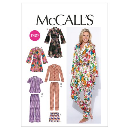 McCall PatternMisses' Robe, Belt, Tops, Shorts and Pants-8-10-12-14-16