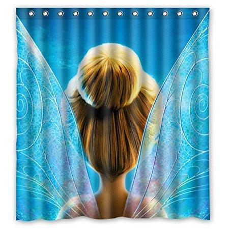 Ganma Cute Cartoon Character Tinkerbell Shower Curtain Polyester Fabric Bathroom Shower Curtain 60x72 inches (Tinkerbell Shower Curtain)