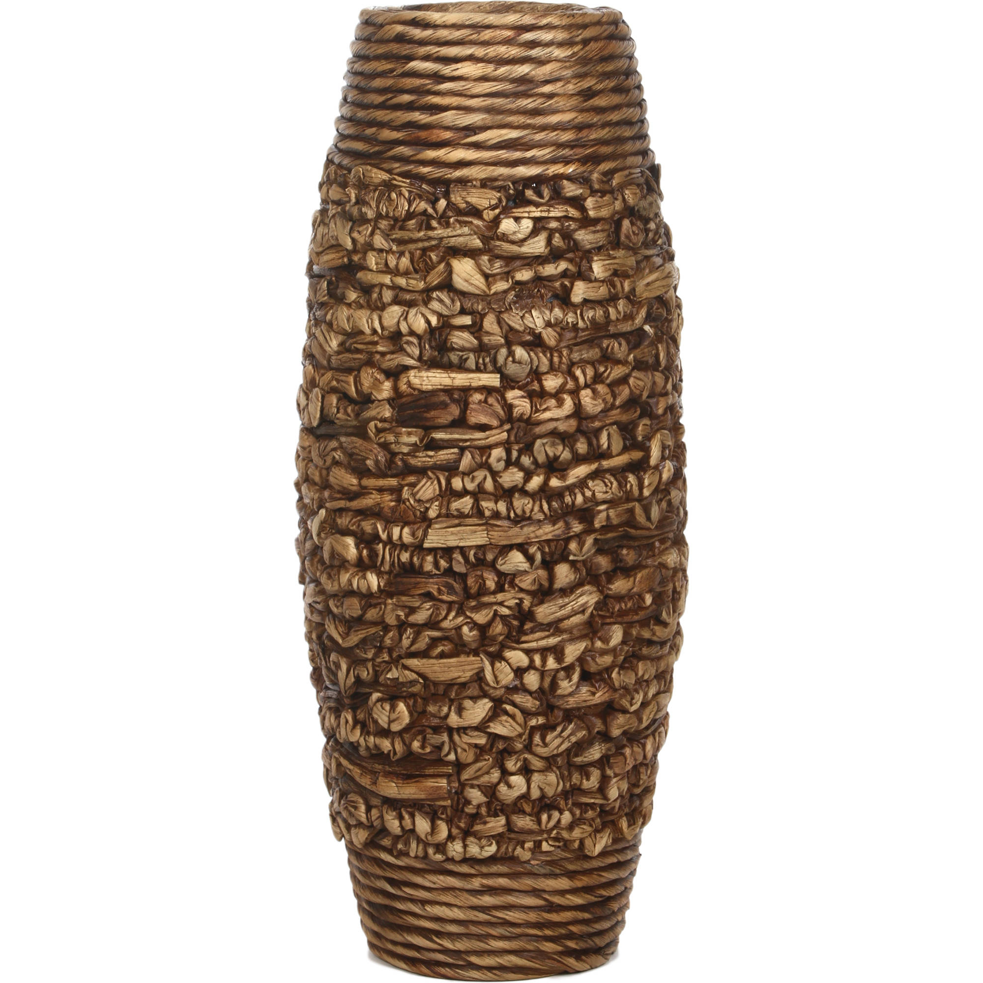 Elegant Expressions by Hosley Natural Hyacinth Vase, Brown