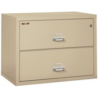 """Fireking 2 Drawer 38"""" wide Classic Lateral fireproof File Cabinet-Parchment"""