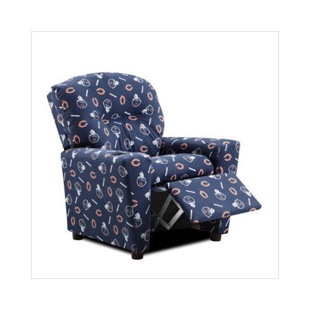 Peachy Kidz World Chicago Bears Childrens Recliner With Cupholder Ocoug Best Dining Table And Chair Ideas Images Ocougorg