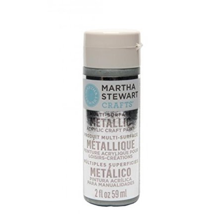 Martha Stewart Crafts Multi-Surface Metallic Acrylic Craft Paint in Assorted Colors (2-Ounce), 32128 Sterling (Best Halloween Crafts Martha Stewart)