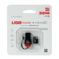 Unirex 32GB Class 10 USB Reader + MicroSDHC