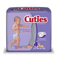 Cuties Baby Diapers (Choose Size and Count)