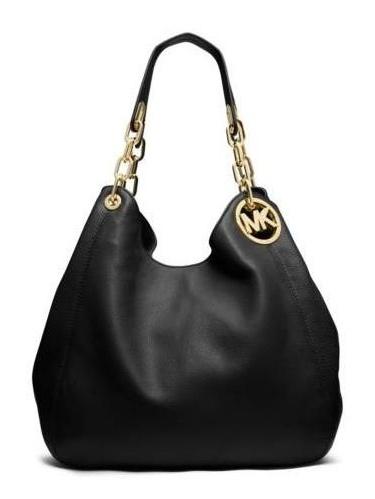 3a24a91c14d5 ... authentic michael kors fulton large leather shoulder bag color 001  black 30h3gfte3l 001 8c202 f3247