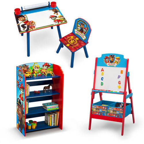 Nick Jr. PAW Patrol Art Desk, Bookshelf, Easel Playroom Set