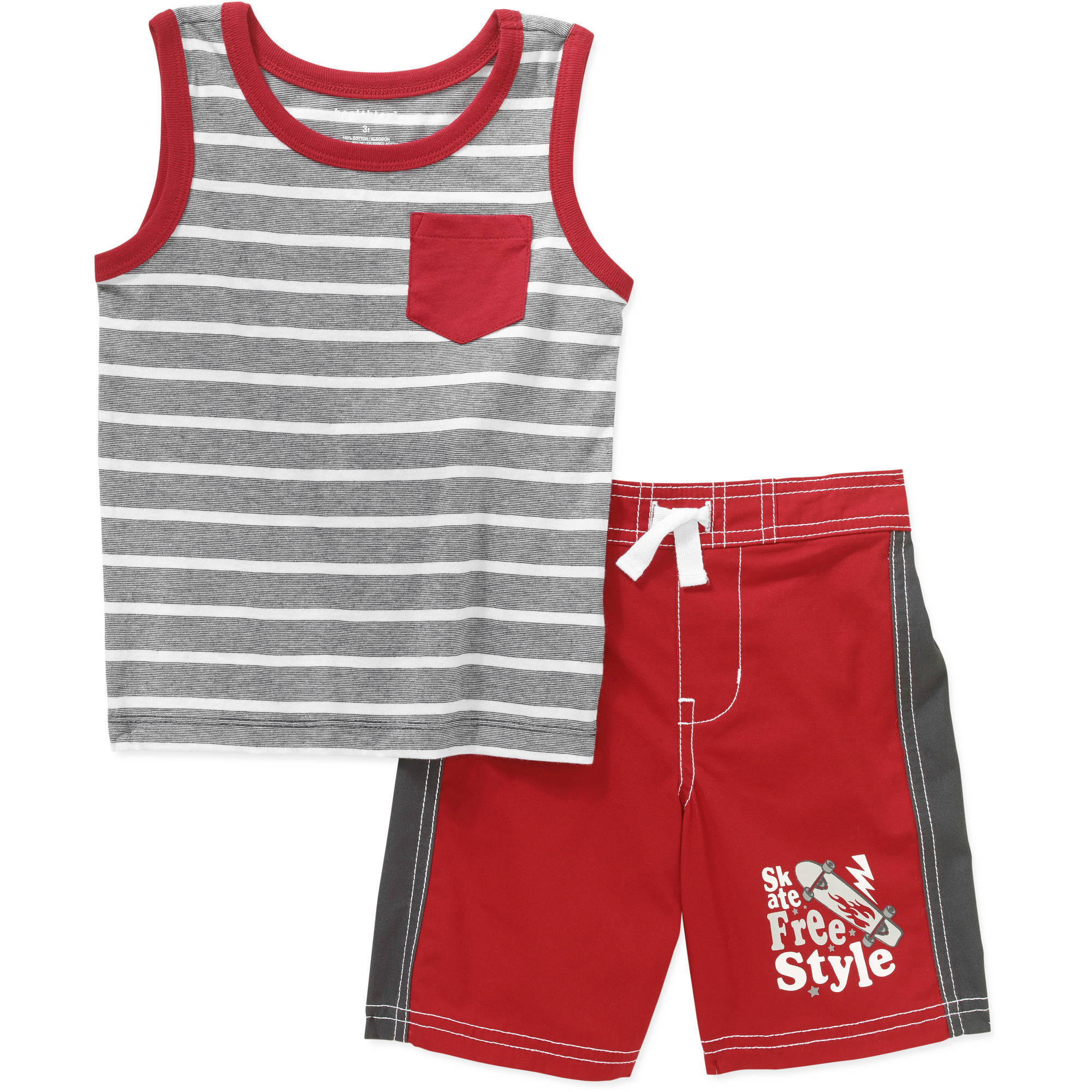 Healthtex Baby Toddler Boy Graphic Tank and Shorts 2-Piece Outfit Set