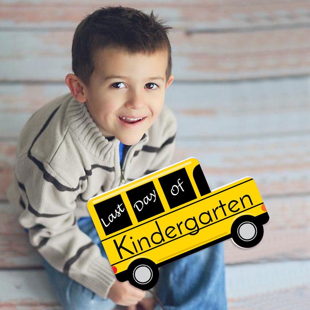 Kindergarten - Last Day of School Bus Sign - Photo Prop