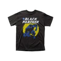 Marvel Comics Black Panther Spotlight Adult Black T-Shirt Tee