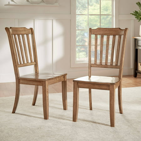 Weston Home Farmhouse Dining Chair with Spindle Back (Set of 2) Antique Spindle Back Chairs