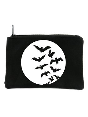 73ed095a1e3 Product Image Full Moon with Vampire Bats Flying Cosmetic Makeup Bag Pouch  Alternative Gothic Accessories