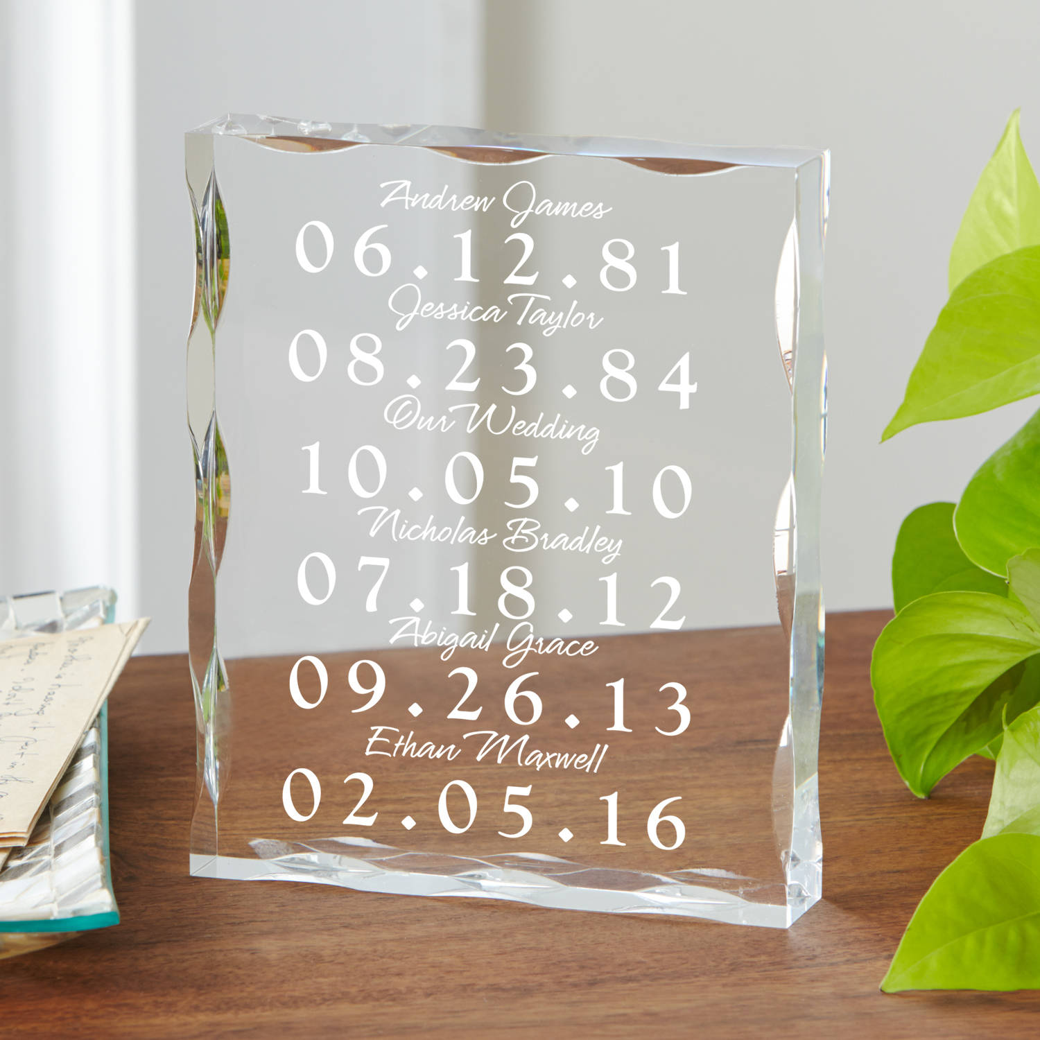 Personalized What a Difference a Day Makes Acrylic Block