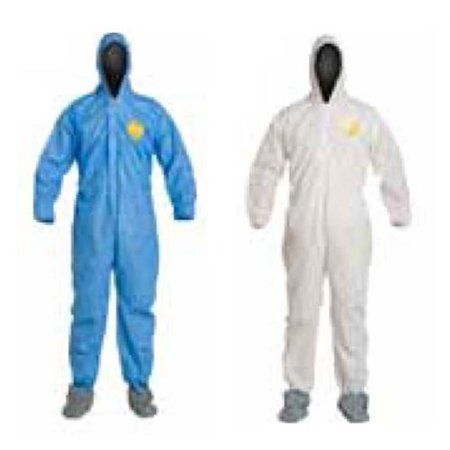 DuPonta 251-PB125S with 3XL Dupont Proshield Basic Coverall White With Elastic Wrists And (Dupont Proshield 1 Coveralls)