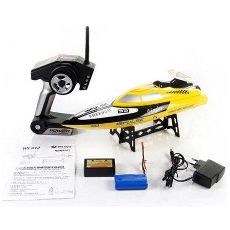 BT912 2.4G Radio Control RC Speed Racing Boat Ship Watercraft - Yellow (Gift Idea)